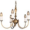 Impex Lighting Brooklands Solar 5 Light Candle-Style Chandelier
