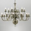 Impex Lighting Flemish 21 Light Candle-Style Chandelier