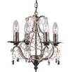 Impex Lighting 4 Light Crystal Chandelier