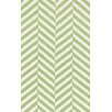 Loloi Rugs Piper Chevron Light Green/White Area Rug