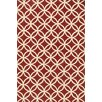 Loloi Rugs Venice Beach Handmade Red/Ivory Indoor/Outdoor Area Rug