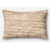 Loloi Rugs Leather Hide Lumbar Pillow Cover