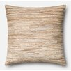 Loloi Rugs Leather Hide Throw Pillow Cover