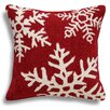 123 Creations Snowflakes Wool Throw Pillow