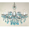 Classic Lighting Rialto 8 Light Crystal Chandelier