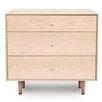 Copeland Furniture Canvas 3 Drawer Nightstand