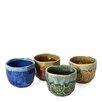 Miya Company 4-Piece Jewel Boulder Teacup