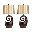 """Brayden Studio Shuler 27"""" H Table Lamp with Empire Shade (Set of 2)"""