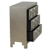 Aspire Addison Mirrored 3 Drawer Chest