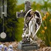 Garden Angel with Cross Statue - Roman, Inc. Garden Statues and Outdoor Accents