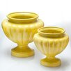 Jaipur Ceramic Urn Planter - Color: Curry Yellow, Size: Small - Abigails Planters