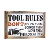 """Wilco Home """"Tool Rules"""" Textual Art Plaque"""