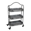 Wilco Home 3 Tray Rolling Rack