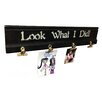 """Wilco Home Inspire Me """"Look What I Did!"""" Wood Molding Photo Clip Stenciled Memo Board"""