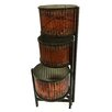 Folding Triple Floor Metal Pot Planter - Wilco Home Planters