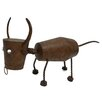 Bull Bobble Head and Tail Garden Statue - Wilco Home Garden Statues and Outdoor Accents