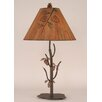 "Coast Lamp Mfg. Rustic Living Iron Pine Tree 31"" H Table Lamp with Empire Shade"