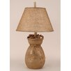"""Coast Lamp Mfg. Pine Cone Bag 28"""" H Table Lamp with Empire Shade"""