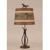 "Coast Lamp Mfg. Rustic Living Iron Stack 24"" H Table Lamp with Empire Shade"