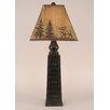 "Coast Lamp Mfg. Rustic Living Pyramid Pot 33"" H Table Lamp with Empire Shade"