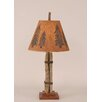 """Coast Lamp Mfg. Rustic Living Twig and Leather 24"""" H Accent Table Lamp with Empire Shade"""