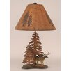 "Coast Lamp Mfg. Rustic Living Iron Deer 28.5"" H Table Lamp with Empire Shade"
