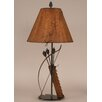 """Coast Lamp Mfg. Rustic Living Iron Bow and Arrow 31.5"""" H Table Lamp with Empire Shade"""