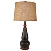 "Coast Lamp Mfg. Casual Living Spool Pot 30.5"" H Table Lamp with Empire Shade"