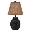 "Coast Lamp Mfg. Coastal Living Bean Pot 18"" H Table Lamp with Empire Shade"
