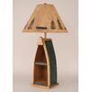 """Coast Lamp Mfg. Rustic Living Wooden Boat 33"""" H Table Lamp with Empire Shade"""