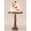 """Coast Lamp Mfg. Rustic Living Tree Trunk 27"""" H Table Lamp with Empire Shade"""