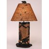 "Coast Lamp Mfg. Bear Scene 30"" H Table Lamp with Empire Shade"