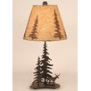 "Coast Lamp Mfg. Deer and Feather Tree 25.5"" H Table Lamp with Empire Shade"