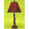 "Coast Lamp Mfg. Tree Trunk 27"" H Table Lamp with Empire Shade"