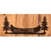 Coast Lamp Mfg. Pine Trees and Canoe Welcome Sign