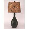 "Coast Lamp Mfg. Ridged Tear Drop 29.5"" H Table Lamp with Drum Shade"