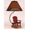 "Coast Lamp Mfg. Fly Rod Adirondack Chair 27.5"" H Table Lamp with Empire Shade"