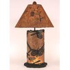 "Coast Lamp Mfg. Pine Cone 31.5"" H Table Lamp with Empire Shade"