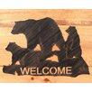Coast Lamp Mfg. Bear Family Welcome Sign