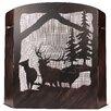 Coast Lamp Mfg. Elk Scene Wrought Iron Fireplace Screen