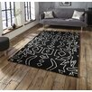 Think Rugs Spectrum Hand-Tufted Black Area Rug