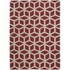 Think Rugs Hand-Woven Red Area Rug