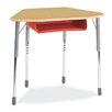 Virco Zuma Plastic Adjustable Height Open Front Desk