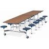 "Virco Mobile 12"" x 30"" Stool Table"