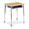 Virco Zuma Plastic Adjustable Height Open Front Desk (Set of 2)