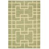 Nourison Maze Hand-Loomed Green Area Rug