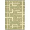 Nourison Handgewebter Wohnteppich Maze in Grün