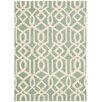 Nourison Linear Hand-Woven Blue / Ivory Area Rug