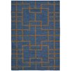 Nourison Maze Hand-Loomed Blue Area Rug