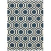 Nourison Linear Hand-Woven Blue Area Rug